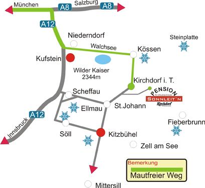 Verkehrsspinne Pension Sonnleitn Kirchdorf in Tirol Kaien Mautz aus Deutschland N�¶tig